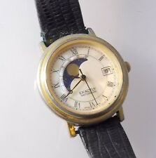 Exactly Switzerland 200-55 Women's Moon Phase Watch Date Analog MOP Dial