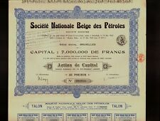 BELGIUM NATIONAL OIL : Societe Nationale Belge des Petroles 1924 Brussels