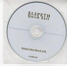 (DS988) Elspeth, Quick Exit - DJ CD