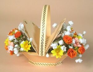 A4 Card Making Templates for Lovely 3D Flower Basket & Display by Card Carousel