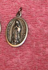 Vintage Italy Religious Pendent Ntra Sra De Guasalupe & Santo Nina de Atocha