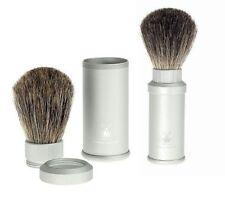 Muhle : pennello per barba in alluminio  da viaggio