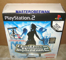 Dance Dance Revolution SuperNova 2 Bundle + Mat New (PlayStation 2, 2007) PS2