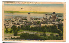1938 postcard - Part of the City as Seen from Parliament Tower, Quebec