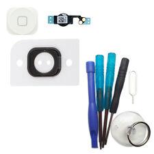 iPhone 5 Home Button komplett Set Taste Flex Kabel Kleber Werkzeug weiß #423+