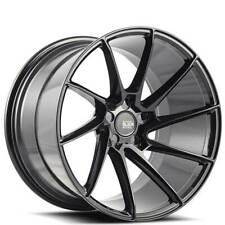 "4ea 20"" Staggered Savini Wheels Black Di Forza BM15 Gloss Black Rims (S12)"