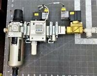 SMC MANIFOULD AV4000-F04-5YO-Q soft start-up valve & AW40-F04D  regulator [D1S2]