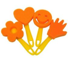 Childrens Spugna Paint Dabbers 4 plasmato STAMPERS Smiley Face lato cuore fiore