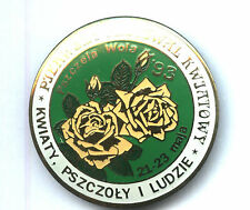 POLAND pin badge Festival of flowers and bees - APIMONDIA ROSE green colour 2