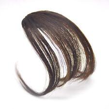 Fashion Thin Neat Air Bangs Clip Human Hair Extension Hair Piece With Sideburns