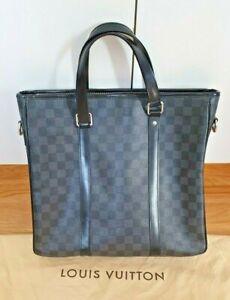 Louis Vuitton Damier Graphite Tadao PM Shoulder Bag Handbag Authentic