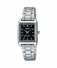 LTP-V007D-1E Black Casio Ladies Women Watches Stainless Steel Band Brand-New