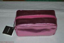 bareMinerals Escentuals Metallic Pink Padded Rectangular Cosmetic Makeup Bag