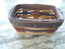 Longaberger 2013 Fall Weave Business Card Basket Mint Condition Free Shipping!