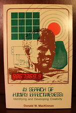 In Search of Human Effectiveness Donald MacKinnon SIGNED Science Psychology 1978