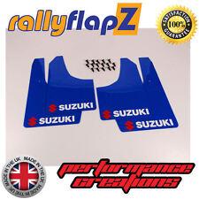 rallyflapZ SUZUKI IGNIS Sport 03-05  Mud Flaps  Blue Logo Red & White (4mm PVC)