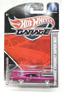 Hot Wheels Garage '69 Dodge Coronet Super Bee Mopar 2010 Pink 1:64 NEW #D-20