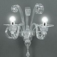 Applique in vetro di Murano cristallo 2 luci