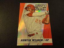 2013 Prizm Draft Picks Austin Wilson Red Prizm 80/100 Seattle Mariners