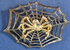 Signed DaneCraft Halloween Spider in Web Brooch 4493