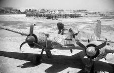 WW2 Photo WWII German Henschel He129 Wreck Luftwaffe Tunisia World War Two /6127