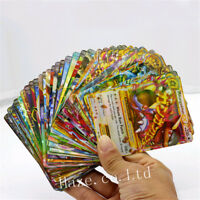 100pcs/Set Pokemon Go TCG Booster Box English Edition Cards Collection Gift
