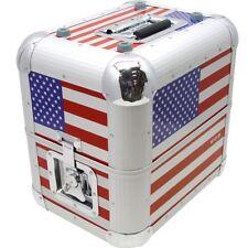 ZOMO MP-80 STARS & STRIPES valigia DJ bauletto in alluminio per circa 75 dischi