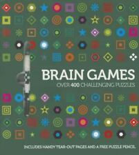 NEW Brain Games:  Over 400 Challenging Puzzles (Paperback) w/FREE Puzzle PencilI