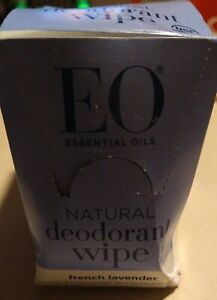 EO Essential Oils Natural Deodorant Wipes 24 Single Packs