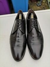 FRATELLI ROSSETTI Mens Leather Black Lace-up Derby Shoes UK 9 (43).
