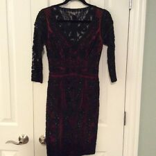 Sue Wong Embroidered Lace Cocktail Dress Size 2