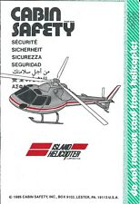 Safety Card - Island Helicopter - AS 350 / 355 - 1985 (US) (S3874)