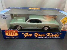 Ertl 1967 Pontiac GTO Route 66 Diecast Light Green Color 1/18 Scale New