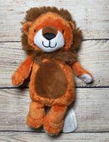 "Kidsbooks Plush Orange Brown Lion Stuffed Animal Soft Toy 8"""