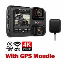 4K 2160P Car Dash Cam DVR  Dual Lens WiFi GPS Sensor Camera Recorder