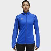 Adidas Tiro 17 (Women's Size L) Soccer Training Jacket Blue/White Track Suit