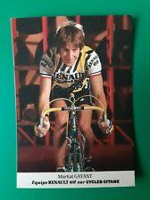 CYCLISME carte cycliste MARTIAL GAYANT équipe RENAULT ELF 1985