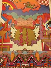 Psychedelic Rainbow Colors Birds Love Rare Vintage Peter Max Fantasy Poster Arts
