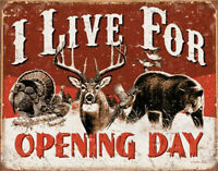Metal Tin Sign i live for opening day  Decor Bar Pub Home Vintage Retro