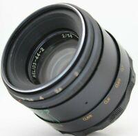 Helios 44-2 manual portrait lens 2/58 screw mount M42 Tested