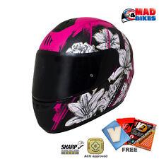 MT Thunder Wild Garden Ladies Motorcycle Scooter Crash Helmet LTD Edition Cherry