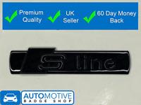 S Line Gloss Black Badge Rear Boot Emblem Sticker Side Wing Fender SLine