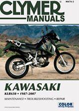 Clymer M474-3 Service & Repair Manual for 1987-07 Kawasaki KLR650