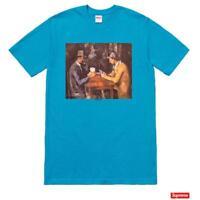 Supreme Cards Tee Cyan Blue Size Large SS18 T Shirt New L Box Logo