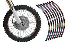 Dirt Bike Rim Protector Decal Kit for 19 and 21 inch Wheels Design #2119BR