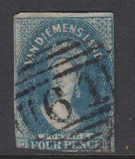 Tasmania 1855 SG18 4d Blue Good Used Cat. £130.00