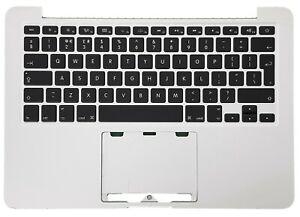 """Apple Macbook pro Retina 13"""" A1502 2013 2014 Tapa Reposamanos Teclado GB Grado C"""