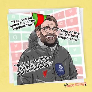Jurgen Klopp Birthday Card for Son, Liverpool Birthday Card, Football Birthday