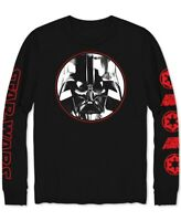 STAR WARS Mens Shirt Black Size Small S Graphic Darth Vader Longsleeve $30 #133