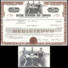 Becton Dickinson and Company NJ 1977 Stock Bond Certificate